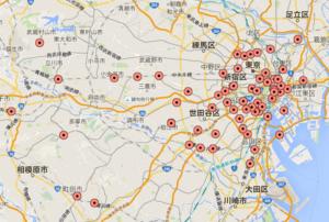 成城石井 東京都内全域 MAP