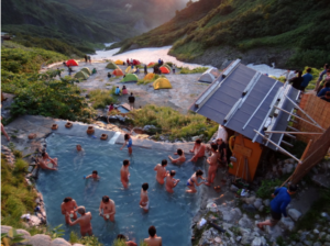 Hot spring in the Hakuba Mountain Range