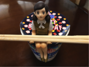 Fuchiko on the Cup – Figure Doll of Female Office Worker