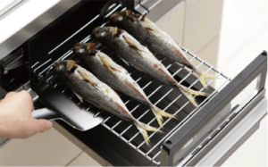 The handy fish broiler in Japanese kitchen
