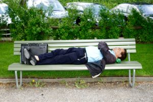 Why Japanese People Fall Asleep in Public?
