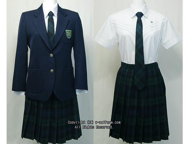 Japanese high school uniforms Kaetsu Ariake high School in Tokyo