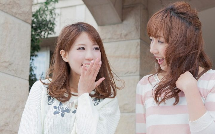 two Japanese women using aizuchi in their conversation