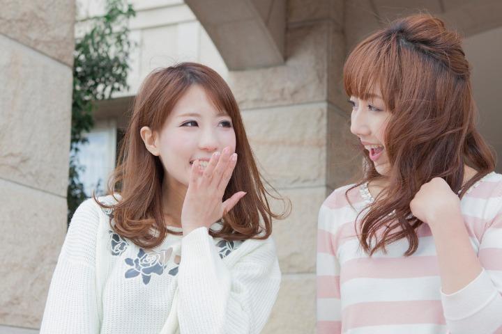 two Japanese women using aizuchi in their conversation
