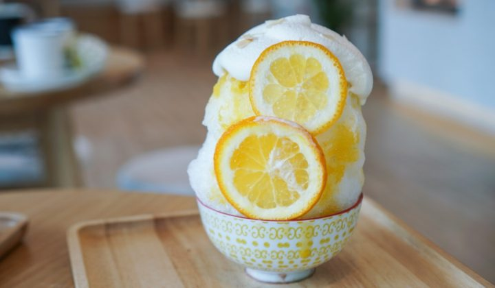 shaved ice in Japan, lemon kakikori