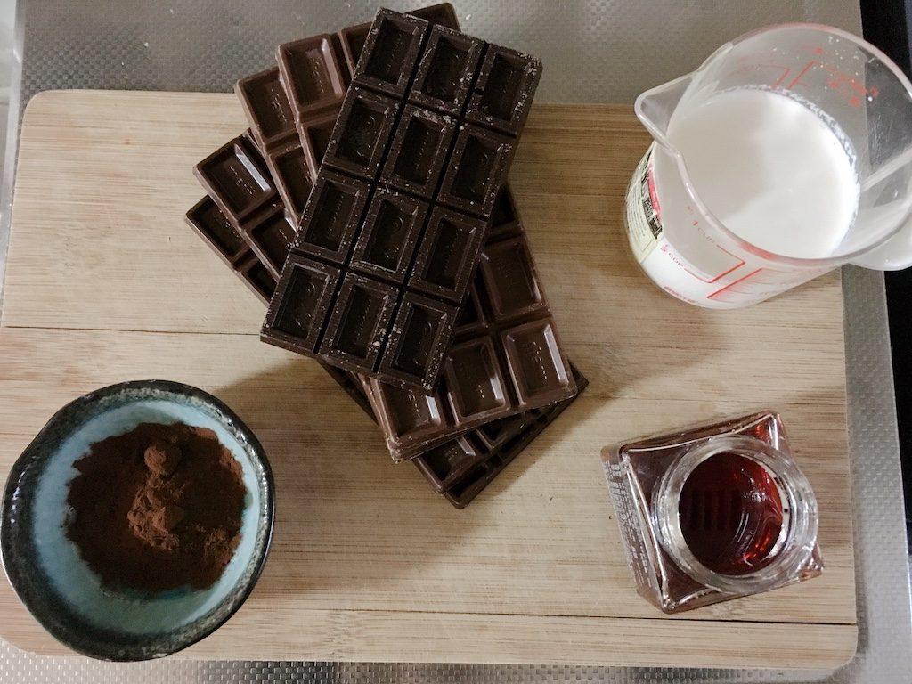 Happy Valentine's Day Chocolate ingredients