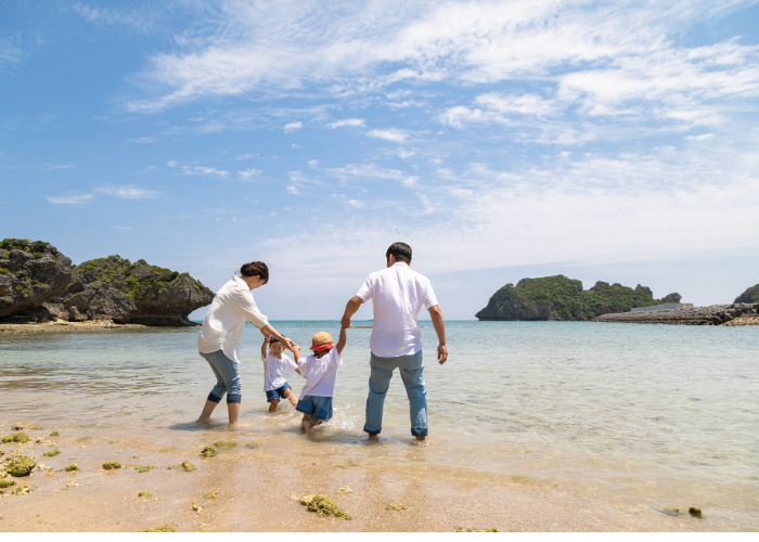 Japan National Holidays Marine Day and Sports Day, beach image