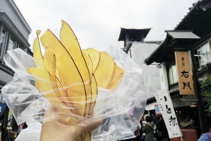 Kawagoe street food satsumaimo