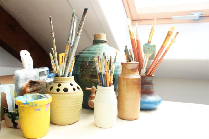 Brush, Painting, Creative Activities