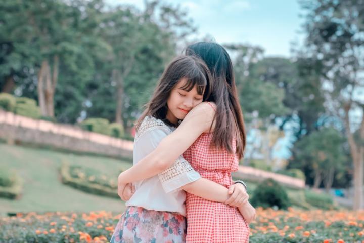 empathy, friends hugging, empathy in Japan, Japanese culture