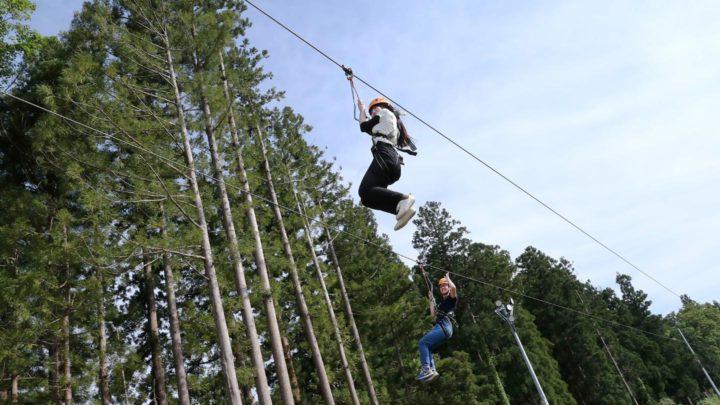 summer vacation Myoko zipline