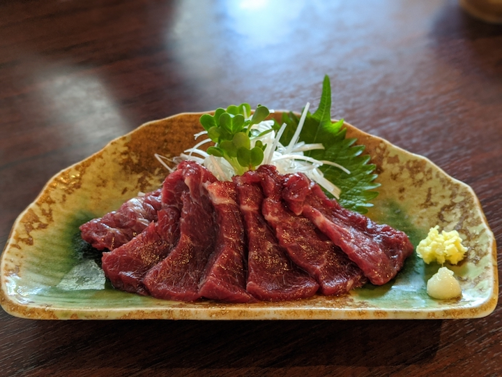 Japanese dishes from kyushu basashi
