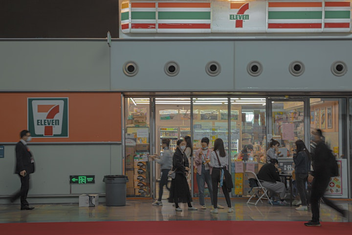 trash bins in japan convenience store